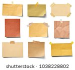 collection of various vintage... | Shutterstock . vector #1038228802