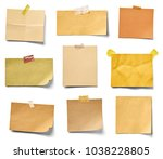 collection of various vintage... | Shutterstock . vector #1038228805