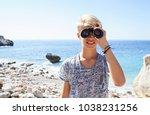 portrait of tourist teenager... | Shutterstock . vector #1038231256