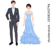 paper dolls  young woman and...   Shutterstock .eps vector #1038243796