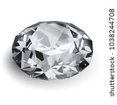 realistic diamond illustration... | Shutterstock .eps vector #1038244708