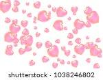 hearts confetti  bright... | Shutterstock .eps vector #1038246802