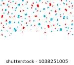 usa celebration red and blue... | Shutterstock .eps vector #1038251005