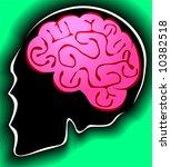 human brain in green... | Shutterstock .eps vector #10382518
