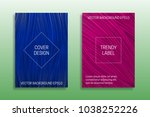 cover templates of saturated... | Shutterstock .eps vector #1038252226