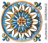 design for ceramic tiles ... | Shutterstock . vector #1038256612