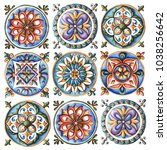 design for ceramic tiles ...   Shutterstock . vector #1038256642