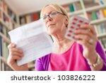 elderly caucasian woman with... | Shutterstock . vector #103826222