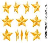 golden star set. different... | Shutterstock .eps vector #103826276