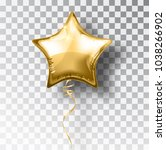star gold balloon on... | Shutterstock .eps vector #1038266902