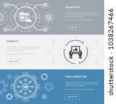 online business 3 horizontal... | Shutterstock .eps vector #1038267466