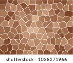 giraffe texture pattern  brown... | Shutterstock .eps vector #1038271966