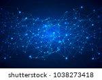 shine geometric technology... | Shutterstock .eps vector #1038273418
