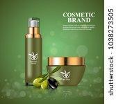 luxury cosmetic moisturizing... | Shutterstock .eps vector #1038273505