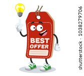 cartoon have an idea price tag...   Shutterstock .eps vector #1038279706