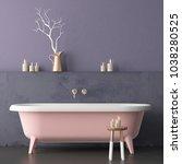 mock up bathroom in vintage... | Shutterstock . vector #1038280525