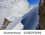 mont blanc mountain  view from... | Shutterstock . vector #1038292096
