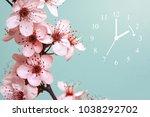 spring forward   daylight...   Shutterstock . vector #1038292702