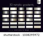 metallic gradients collection.... | Shutterstock .eps vector #1038295972