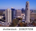 Cityscape of Buckhead location in the City of Atlanta, Fulton County, Georgia