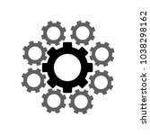 cogwheel  icon setting and... | Shutterstock .eps vector #1038298162