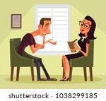 man having psychologist... | Shutterstock .eps vector #1038299185