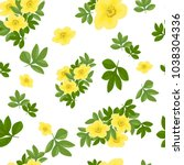 cute floral pattern in the... | Shutterstock .eps vector #1038304336