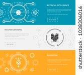artificial intelligence 3... | Shutterstock .eps vector #1038306016