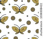 purple and black butterflies... | Shutterstock .eps vector #1038308422