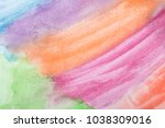 colorful watercolor background.... | Shutterstock . vector #1038309016