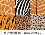 vector illustration of tiger ... | Shutterstock .eps vector #1038309682