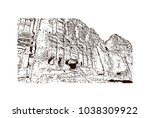 royal tombs and street of... | Shutterstock .eps vector #1038309922
