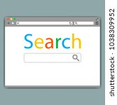 simple browser window on gray... | Shutterstock .eps vector #1038309952