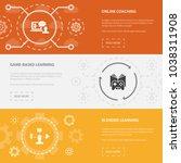 elearning 3 horizontal webpage...   Shutterstock .eps vector #1038311908