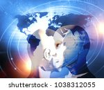 concept of machine learning to... | Shutterstock . vector #1038312055