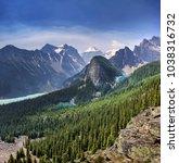 louis lake  banff national park ... | Shutterstock . vector #1038316732