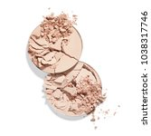face powder isolated on white... | Shutterstock . vector #1038317746