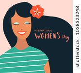 8 march  international women's... | Shutterstock .eps vector #1038323248