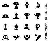 solid vector icon set  ... | Shutterstock .eps vector #1038323602
