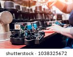 electrician worker checking... | Shutterstock . vector #1038325672