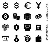 solid vector icon set   dollar... | Shutterstock .eps vector #1038326146
