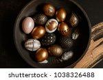 background with golden... | Shutterstock . vector #1038326488