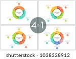 bundle of round ring like... | Shutterstock .eps vector #1038328912