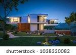 3d rendering of modern cozy... | Shutterstock . vector #1038330082