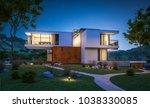 3d rendering of modern cozy... | Shutterstock . vector #1038330085