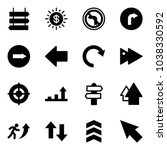solid vector icon set   sign... | Shutterstock .eps vector #1038330592