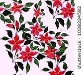 watercolor seamless pattern...   Shutterstock . vector #1038334582