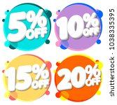 set sale tags  discount banners ... | Shutterstock .eps vector #1038335395