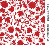 floral seamless pattern. flower ... | Shutterstock .eps vector #1038337456