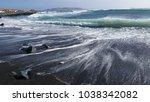 ocean waves coastline  | Shutterstock . vector #1038342082